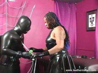 Latex fetisj zwart vrouw