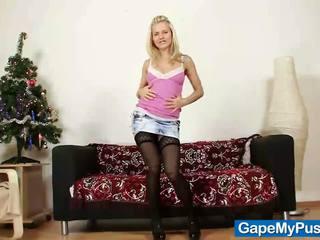Tenåring bella anne fitte gaping av kinky daddy