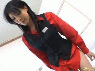 Giapponese av modella asiatico pupa