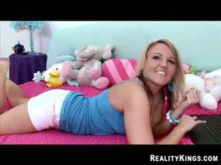 Tingling Sensation Blonde Abby Get A Sex And Cum