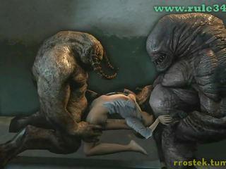 Monstrs hardcore hentai kompilācija