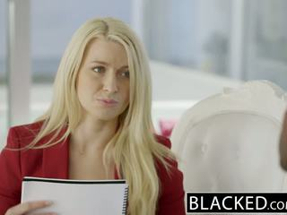 Blacked ビジネス ブロンド anikka albrite 尻 ファック バイ a bbc