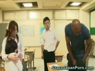 Negra fucks escolar en wtf japón porno!