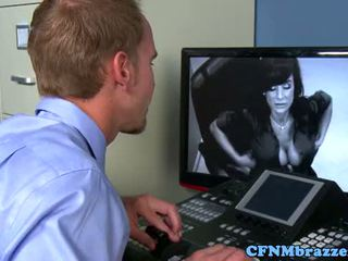 CFNM office ladies fucking IT guy