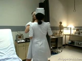 Nurse is surprised by her busty patient