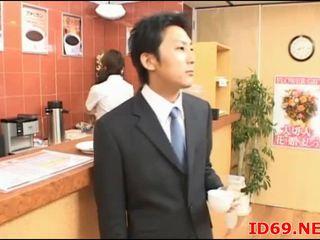 Japanska av modell söt kontors flicka