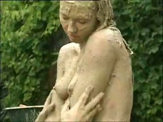 muddy woman attacks and humps guy in t...