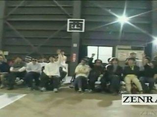 Subtitled japansk gyaru gruppe spille musical cfnm spill