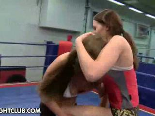 Young girls fighting with each other