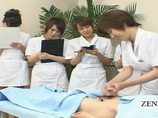 Subtitled Cfnm Japanese Handjob Spa Group Demonstration