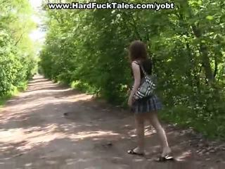 Gang Invade Fuck With A Sexy School Chick
