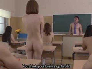 Subtitled uncensored जपानीस न्यूडिस्ट स्कूल पॉप quiz