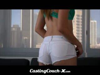 Κάστινγκ καναπές x - φλόριντα έφηβος/η excited να προσπαθώ έξω για πορνό