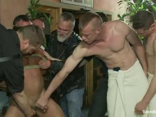 Muscle Mate Gangbanged At Club Eros Sex Club