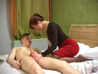Russian milf with nice muscles fucked by not her son