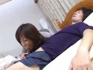 Japanese Mom Sneaks Into Husbands Cous...
