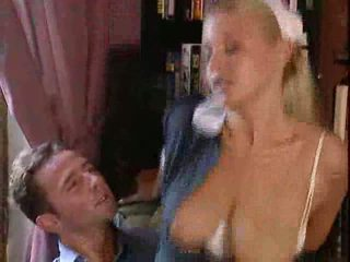 Busty french maid gets fucked.