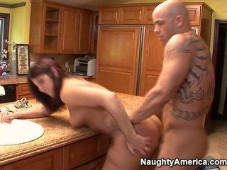 brunette, hardcore sex, nice ass