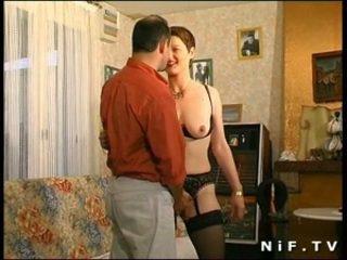 毛深い フランス語 熟女 gets 彼女の 尻 ファック