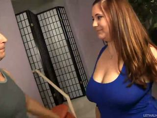 Lucky guy plays with very nice chubby tits