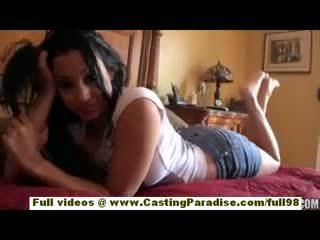 Abella anderson amatér latina dospívající dívka s velký prdel doing rána