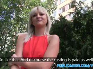 PublicAgent Slim blonde with perfect tits fucks a stranger