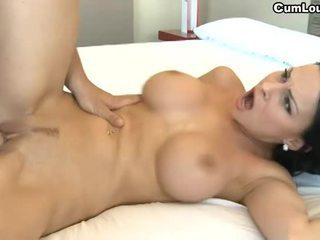 Hot brunette abbie cat swallowing pejuh