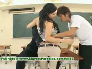 Sora aoi innocent sexy japoneze student është getting fucked