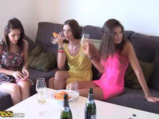 Venkovní souložit s opilý vysoká škola holky