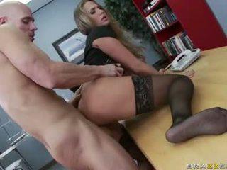 agradável grandes mamas, escritório sexo mais quente, assistir escritório foda