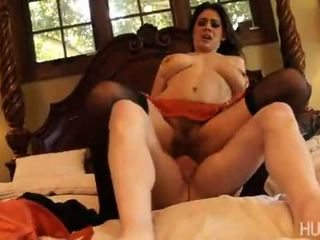While playing with here hairy pussy Raylene gets a visit from a big cock that sinks its self deep in her snatch