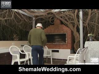 Heet shemale weddings scène starring senna, rabeche, alessandra