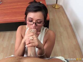 Liederlijk leraar tonen haar speeltjes en is being geneukt hard op de tafel
