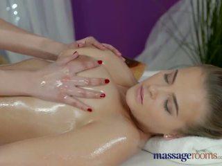 Massage Rooms Lesbians with big natural tits have sensual orgasmic fun