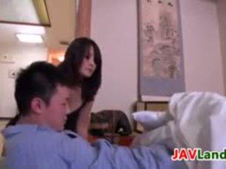 Japanese Housewife Pleasuring Her Husband