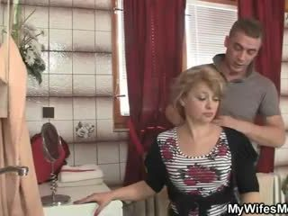 She rides son in law cock and his wife...