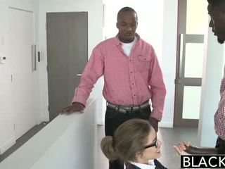 Blacked: Natasha White threesome with two monster dicks