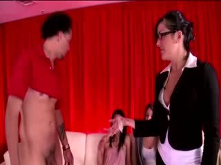 Hot cnfm chicks collect cum from losers condom