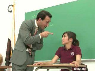 estudiante, adorable, nalgadas