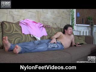 Paulina And Rolf Breathtaking Pantyhose Feet Film Scene