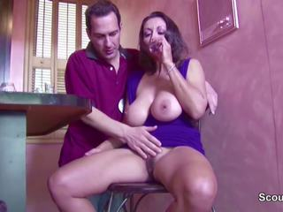Hairy Big Natural Tit MILF Seduce to Fuck and Creampie