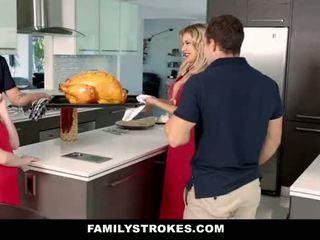 Familystrokes - korak sister sucks in fucks brat med thanksgiving dinner