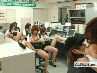 Jaapani post kontoris röövel rinnakas masturbation pidu