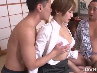 Oholené japonské pička pounded