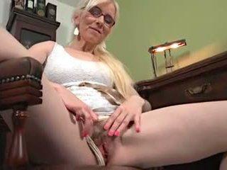 nenek, matang, melancap