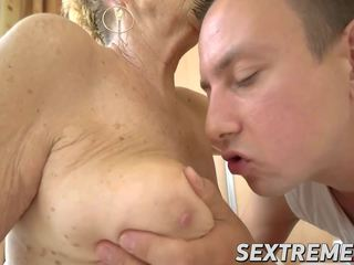 Hot Stud Rob Destroys Horny Granny Maylas Old and Hairy