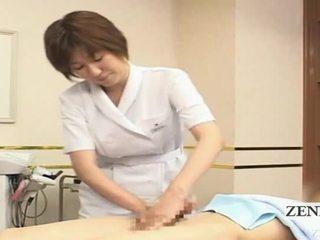 Subtitled apģērbta sievete kails vīrietis japānieši handjob spa grupa demonstration