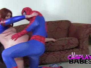 Keşbe girmek babes spiderman likes big emjekler