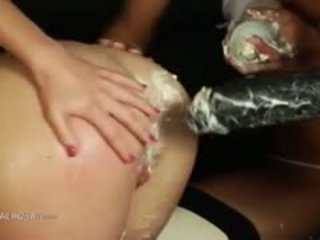 Extremely Brutal Butt Games With Cream