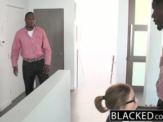 Blacked jovem grávida sexo a três com two monstro dicks